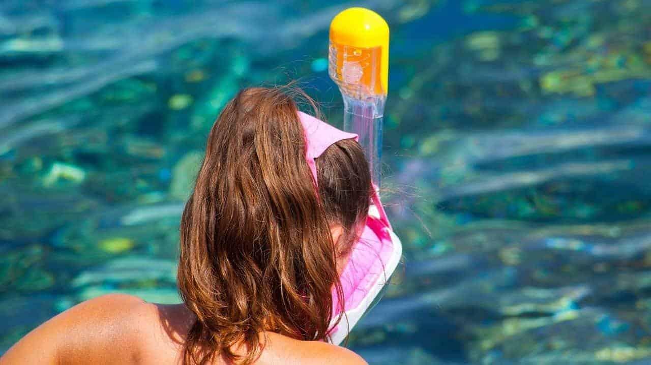Elastic Straps Full Face Snorkel Mask