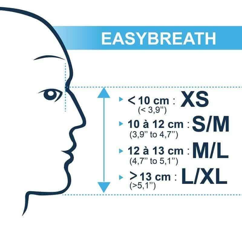 Easybreath Size Chart