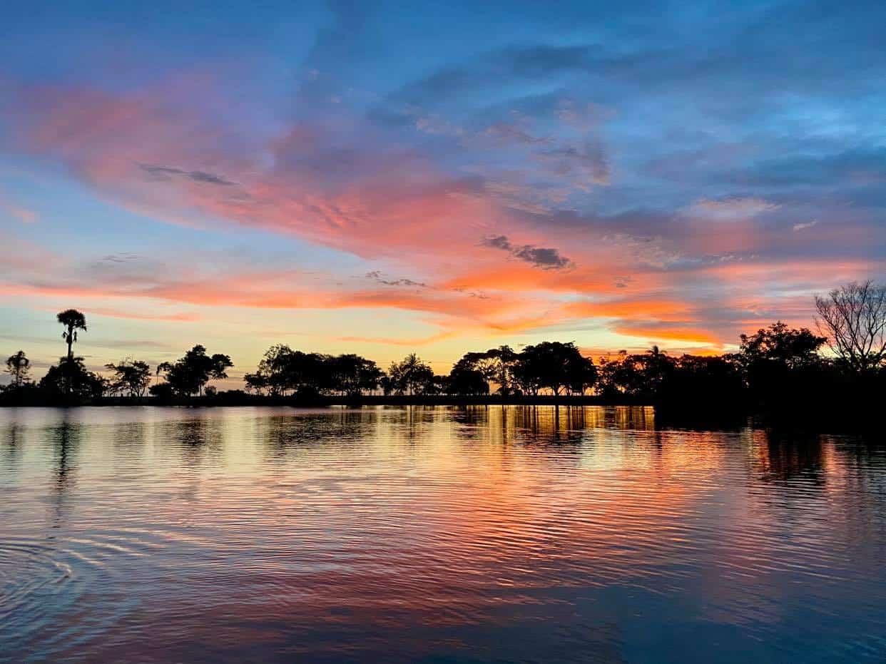 Sunset at Lake Alexander