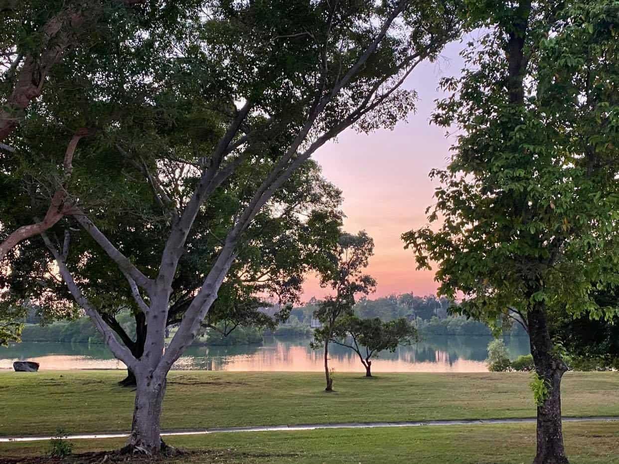 Lake Alexander at sunrise