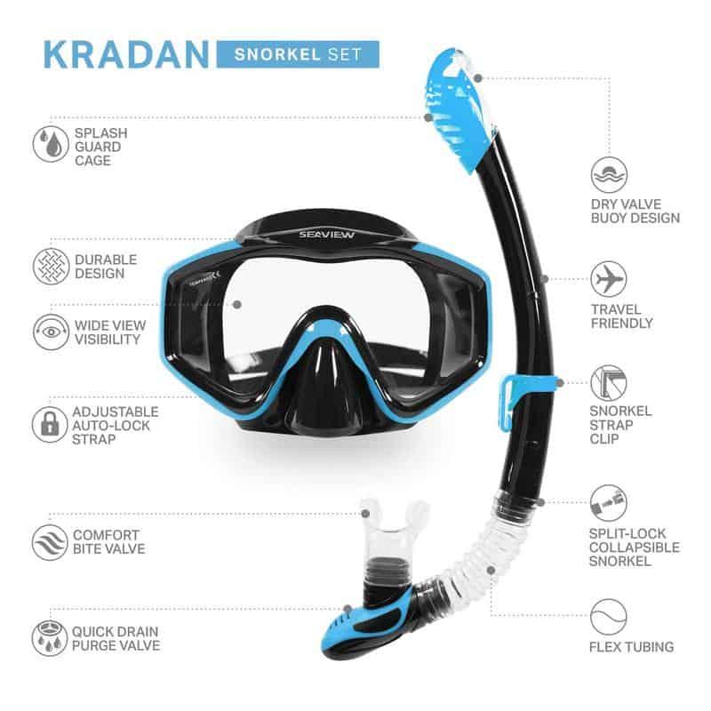 Seaview Kradan Blue Snorkel and tube