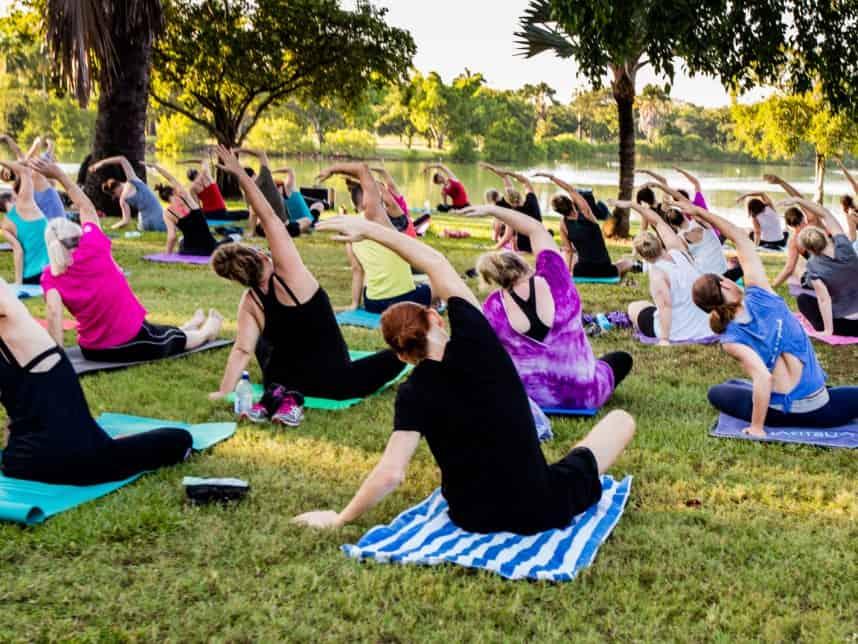 Yoga at Lake Alexander