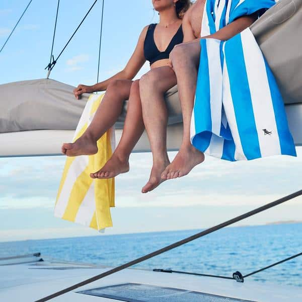 Dock and Bay Cabana Towel Designs on a yacht