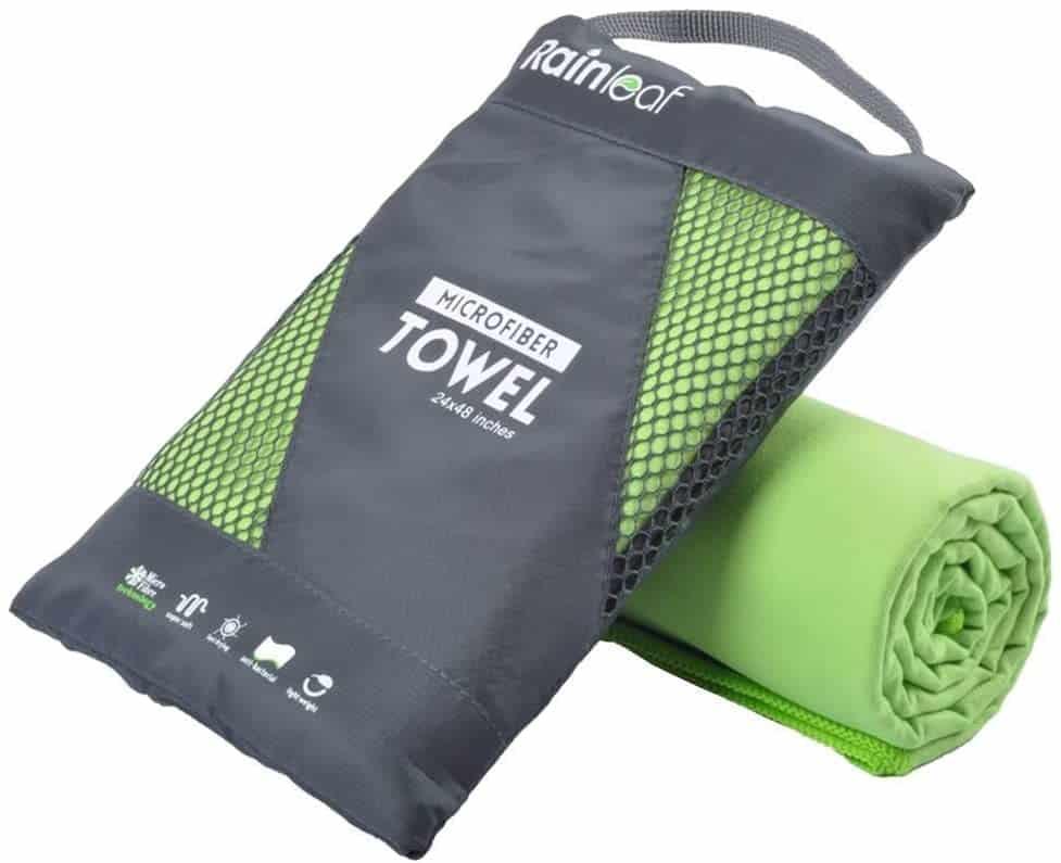 Rainleaf Microfiber Towel Green
